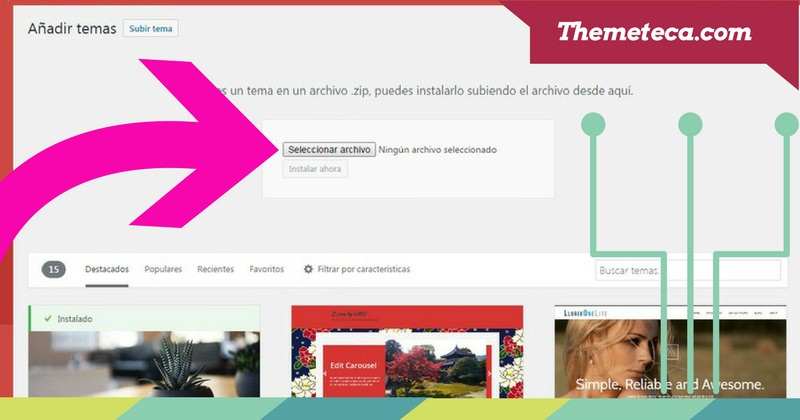 como instalar un theme en WordPress2
